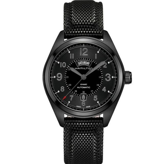 HAMILTON ハミルトン 腕時計 ハミルトン 腕時計 カーキ フィールド デイデイトオート ブラックPVD H70695735 42mm 国内正規品
