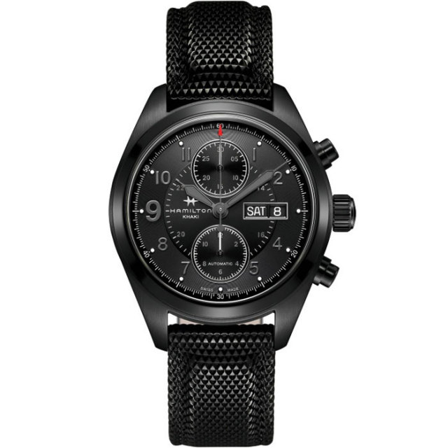 HAMILTON ハミルトン 腕時計 Khaki Field Auto Chrono カーキ フィールド オートクロノ ブラックPVD H71626735 国内正規品