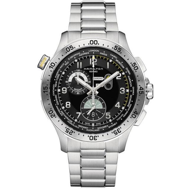 HAMILTON ハミルトン 腕時計 Worldtimer Chrono Quartz カーキクロノ ワールドタイマー H76714135 国内正規品