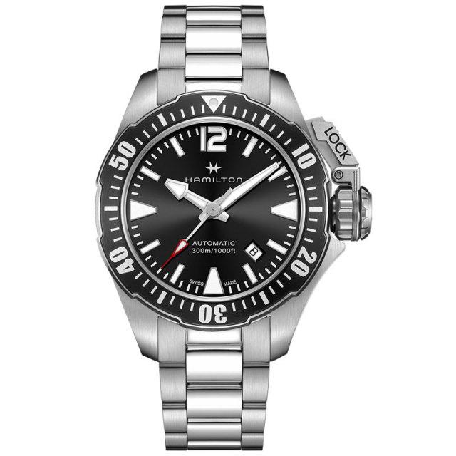 HAMILTON ハミルトン 腕時計 Khaki Navy Open Water Auto カーキ ネイビー オープンウォーターオート H77605135 国内正規品 メンズ