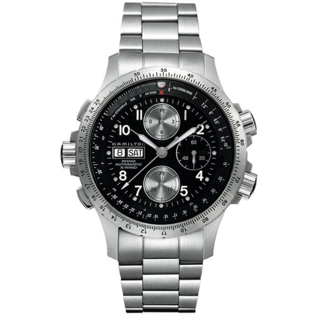 HAMILTON ハミルトン 腕時計 カーキ X-WIND クロノグラフ オートマチ ック SSブレスレット H77616133 メンズ 国内正規品
