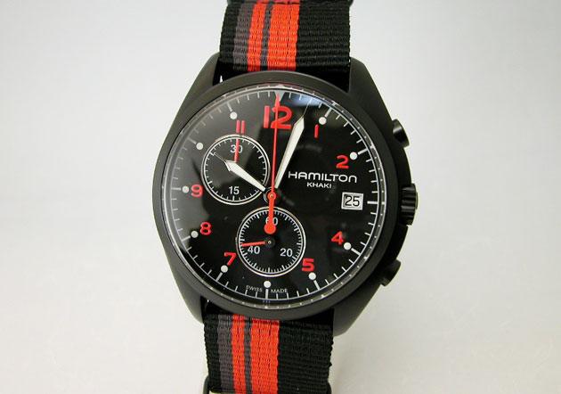 ハミルトン 腕時計 Khaki カーキ パイロットクロノブラック