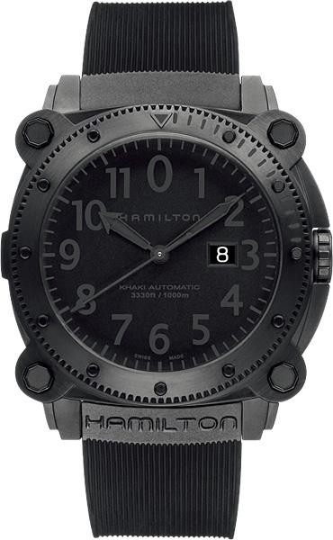 HAMILTON ハミルトン 腕時計 カーキBeLOWゼロ 1000m防水オートマチック ブラックRef.H78585333 国内正規品