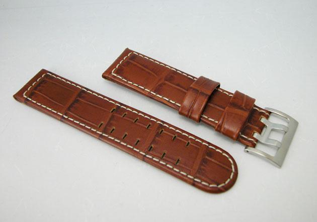 ハミルトン カーキパイロット腕時計用ブラウンカーフベルト