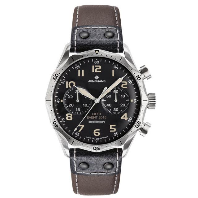 ユンハンス JUNGHANS 腕時計 マイスターパイロットエディション 自動巻 クロノスコープ オートマチック世界限定150本 027359300 国内正規品