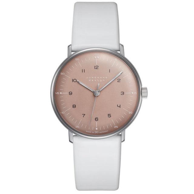 マックスビルBYユンハンス JUNGHANS 腕時計 手巻き ピンクカラー 027 3601 00 国内正規品