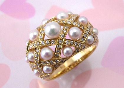 パール ダイヤモンドリング