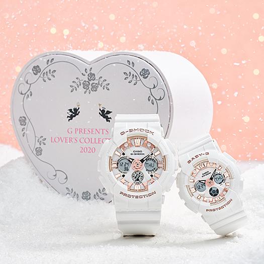 G-SHOCK ジーショック 腕時計 Baby-G G PRESENTSラバーズコレクション2020 ホワイト LOV-20A-7AJR ペアウォッチ