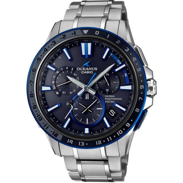 カシオ 腕時計 オシアナス フルメタルGPSハイブリッド電波ソーラー セラミックベゼル MULTIBAND6  TOUGH MVT OCW-G1200-1AJF メンズウォッチ