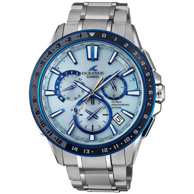 カシオ 腕時計 オシアナス フルメタルGPSハイブリッド電波ソーラー セラミックベゼル MULTIBAND6  TOUGH MVT OCW-G1200-2AJF メンズウォッチ