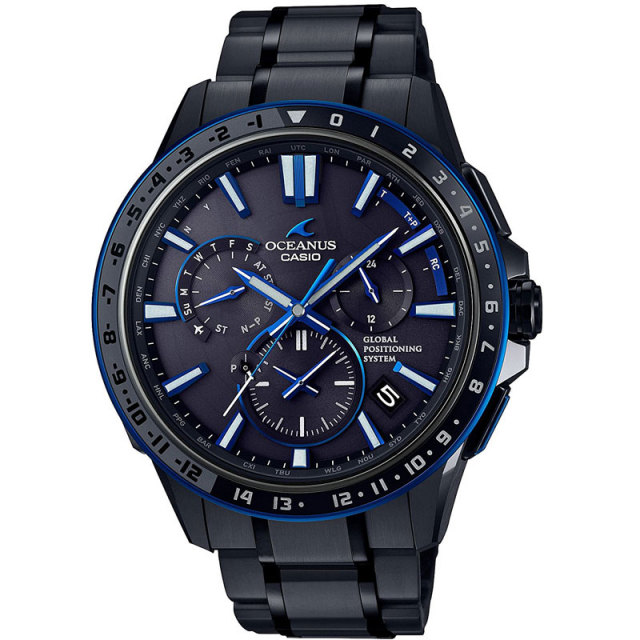 カシオ 腕時計 オシアナス フルメタルGPSハイブリッド電波ソーラー セラミックベゼル MULTIBAND6  TOUGH MVT OCW-G1200B-1AJF メンズウォッチ