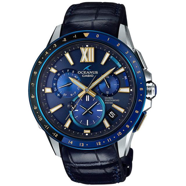 カシオ 腕時計 オシアナス フルメタルGPSハイブリッド電波ソーラー MULTIBAND6 TOUGH MVT OCW-G1200C-2AJF 世界限定500本 クロコダイルバンド メンズウォッチ
