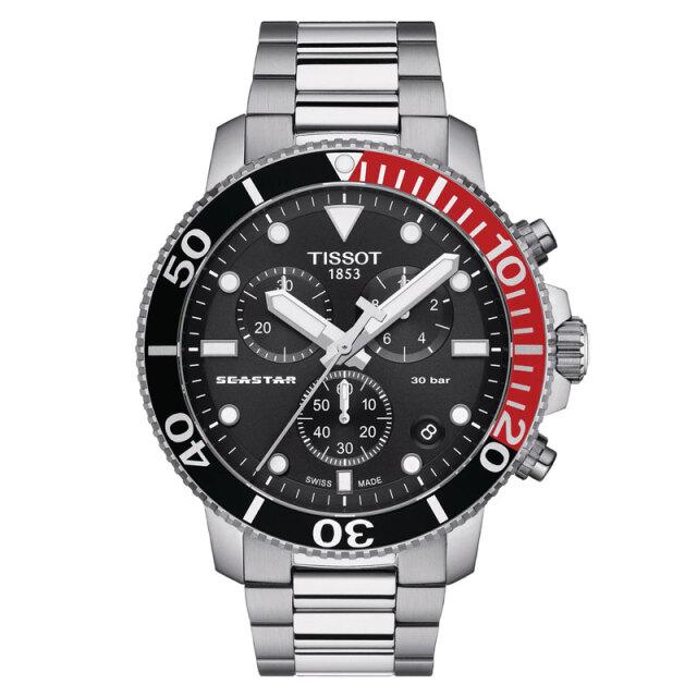 ティソ 腕時計 TISSOT SEASTAR シースター 1000 クォーツ クロノグラフ 1204171105101 メンズ 国内正規品