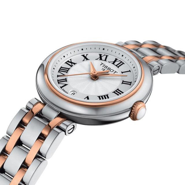 ティソ 腕時計 ベリッシマクォーツ TISSOT Belissima ホワイト文字盤  レディース