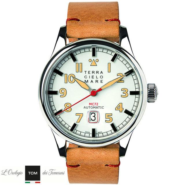 TERRA CIELO MARE テッラチエロマーレ AVIATORE アヴィアトーレ MK2 WHITE 腕時計 自動巻き TC7103AC2PA 国内正規品 メンズ