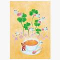 【イラスト008】 紅茶とクローバー300b