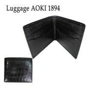 Luggage AOKI 1894(ラゲージ アオキ 1894) Matt Crocodile(マット クロコダイル) 二つ折り財布 2481