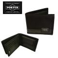 吉田カバン PORTER ポーター HEAT  ヒート ウォレット 二つ折り ブラック(703-07976)ブランド 日本製 折財布 メンズ 男性用