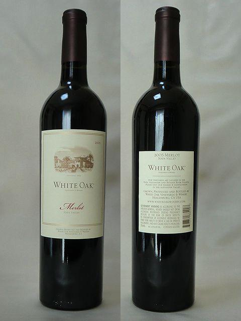 ホワイト・オーク メルロー ナパ・ヴァレー 2006
