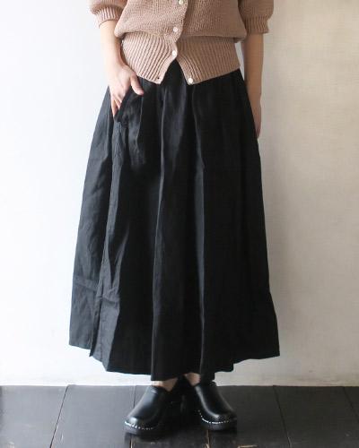 homspun ホームスパン リネンバイオギャザースカート