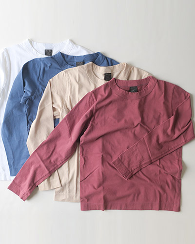 homspun ホームスパン 30/1天竺 長袖Tシャツ