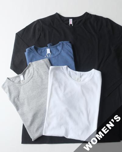 homspun ホームスパン 30/1 天竺スリット長袖Tシャツ
