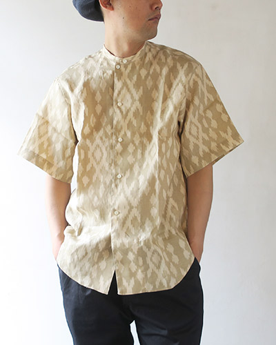 HAVERSACK ハバーサック イカットプリントシャツ