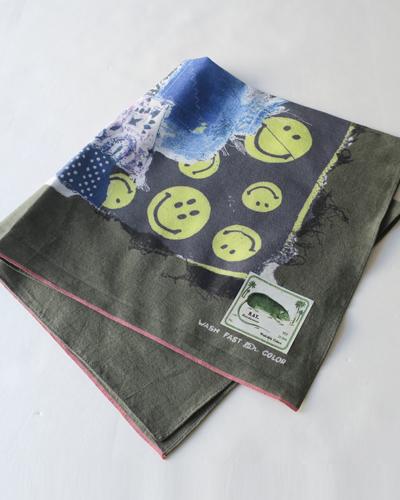KAPITAL キャピタル fastcolor セルビッチバンダナ(スマイリーバンダナパッチワークpt)