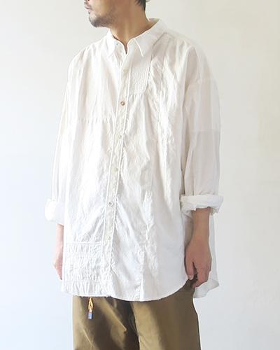 KAPITAL キャピタル 綿×リネン パッチワークグランデシャツ