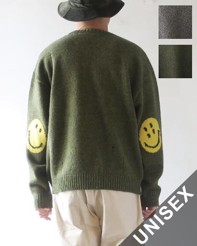 KAPITAL キャピタル 7Gウール スマイリークルーセーター