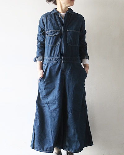 KAPITAL キャピタル シャツデニムオールインワンスカート