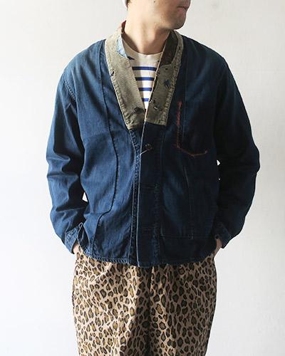 KAPITAL キャピタル 8ozIDG×IDGデニム ジュバンシャツ(DOTERAリメイク)