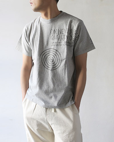 Engineered Garments エンジニアドガーメンツ Printed Cross Crew Neck T-Shirt - Spiral Tシャツ