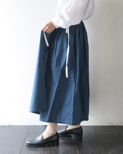 GRANDMA MAMA DAUGHTER グランママドーター バイカラーギャザースカート