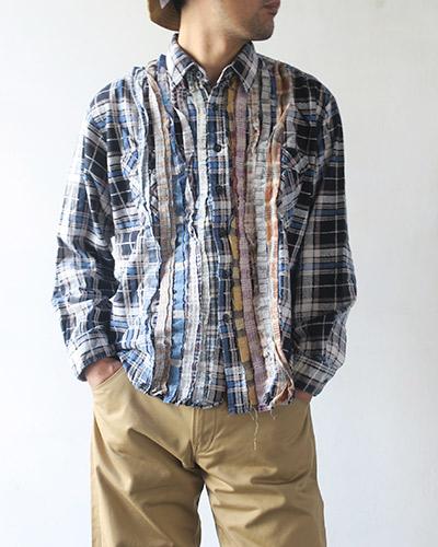 REBUILD by Needles リビルドバイニードルズ Flannel Shirt - Ribbon Shirt フランネル リボンシャツ