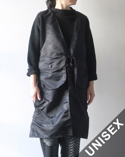 Engineered Garments エンジニアドガーメンツ Long Fowl Vest - Fight Satin ロングファウルベストフライトサテン