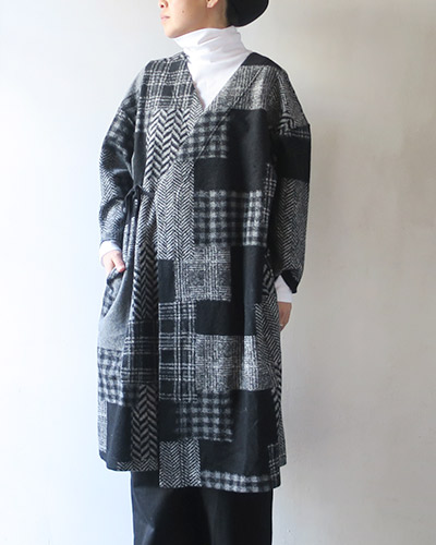 Engineered Garments エンジニアドガーメンツ Cache Coeur Knit Dress - Patchwork HB ニットドレス