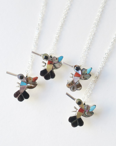 Indian Jewelry インディアンジュエリー ZUNI NECKLACE HUMMINGBIRD ズニ族 ネックレス ハミングバード