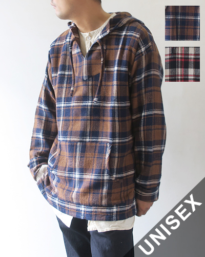 South2 West8 Mexican Parka - Plaid Pique サウス2ウエスト8 メキシカンパーカ