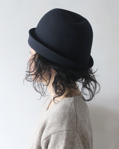 mature ha. マチュアーハ Widen Free Hat Black Stitch ハット
