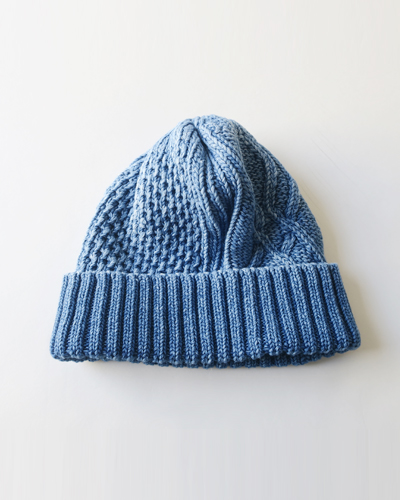 RoToTo ARAN CABLE INDIGO WATCH CAP ロトト キャップ