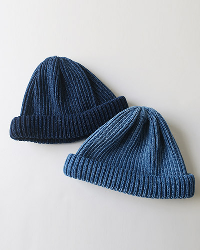 RoToTo INDIGO COTTON ROLL UP BEANIE ロトト インディゴ ビーニー