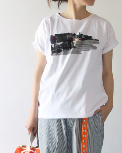 RIDING HIGHのTシャツのモデル着用画像