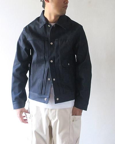 SASSAFRAS Gardener Jacket 13.5oz Broken Denim ササフラス ガーデナージャケット