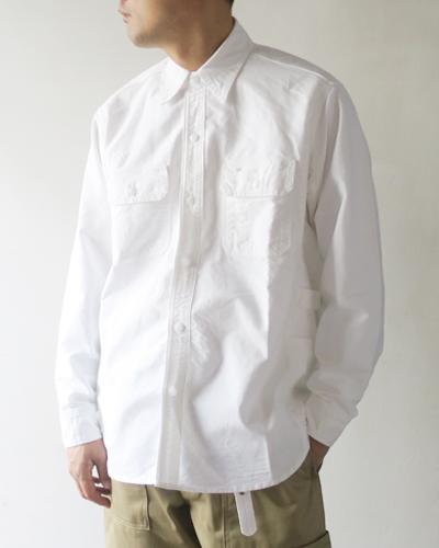 SASSAFRAS Gardener Shirt - White ササフラス ガーデナーシャツ