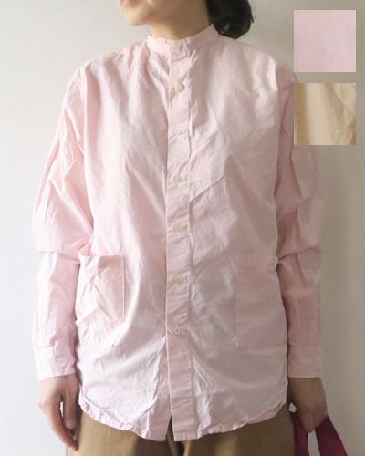 Yarmo BAND COLLAR SHIRTS ヤーモ バンドカラーシャツ