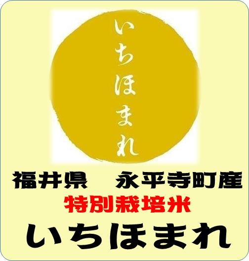 令和元年産 福井県永平寺町産 いちほまれ 特別栽培米 (玄米1kg)