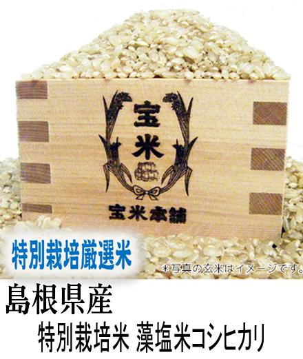 30年産 島根県産 隠岐 特別栽培米 ジオパーク 藻塩米 コシヒカリ(玄米1Kg)