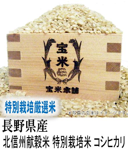 30年産 長野県産 減農薬米 北信州 コシヒカリ (玄米25Kg)
