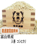 30年産 富山県産 入善 コシヒカリ(玄米1Kg)